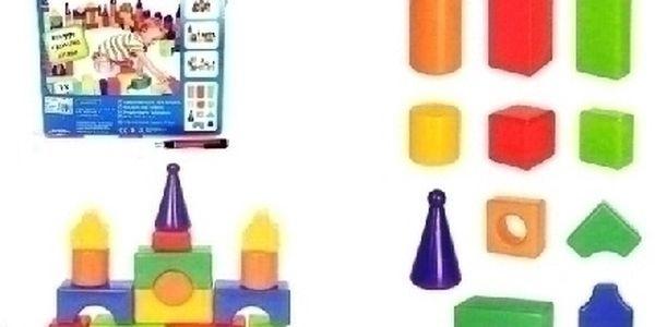 VELKÉ KOSTKY 18ks - měkká plastová stavebnice ktera zaručeně vaše dítě zabaví !