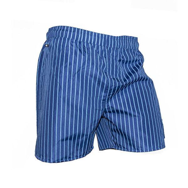 Pánské modré plavky s proužky Exe Jeans