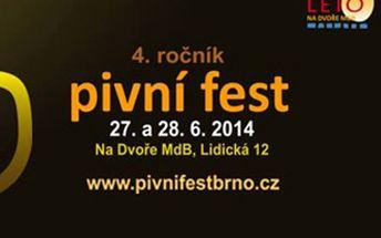 DVĚ vstupenky na Pivní Fest na dvoře Městského divadla Brno a jako dárek upomínkový půllitr zdarma!