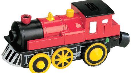 Elektrická lokomotiva - červená MAXIM 50412