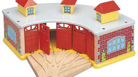 Velké depo s dveřmi na pět mašinek MAXIM 50946