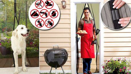 Samozavírací síť na dveře proti hmyzu - 2 kusy s poštovným