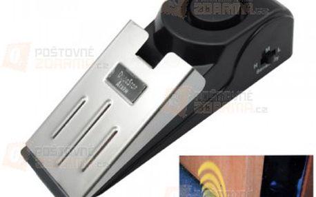Bezpečnostní zarážka pod dveře s alarmem a poštovné ZDARMA! - 17710692