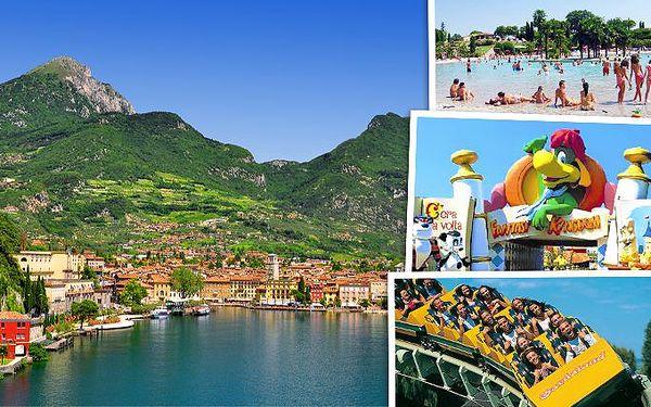 7denní zájezd k jezeru Lago di Garda s návštěvou zábavního parku Gardaland pro jednoho