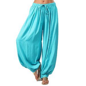 Dámské tyrkysové volné kalhoty Aller Simplement