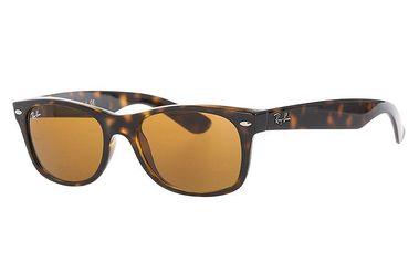 Žíhané sluneční brýle s hnědými čočkami Ray-Ban