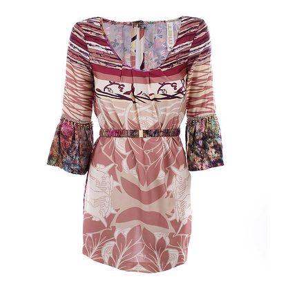 Dámské barevně vzorované šaty MET