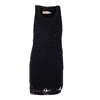 Dámské černé krajkové šaty MET