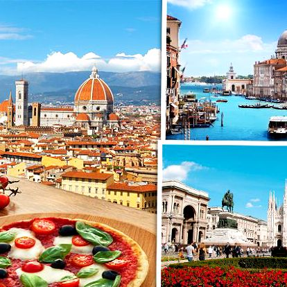5denní poznávací zájezd do Benátek, Milána a Florencie pro jednoho