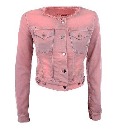 Dámská džínová bundička v růžové barvě MET