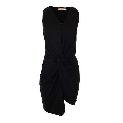 Dámské černé šaty s tulipánovou sukní Met