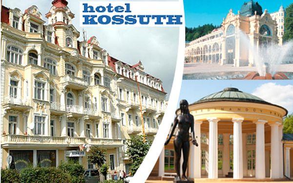 Odpočinek a procedury vMariánkách na 4 dny PRO 2 za 5990 Kč! Známý hotel Kossuth!
