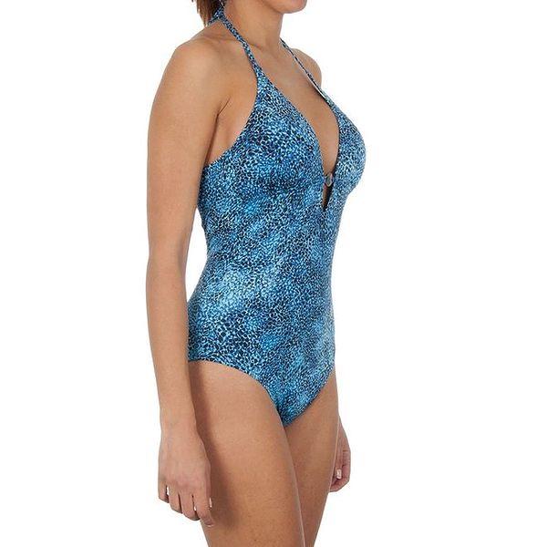 Dámské modré jednodílné plavky Calvin Klein