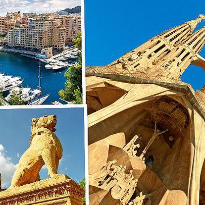 5denní zájezd po Evropě - Monako, Barcelona, Ženeva - pro 1