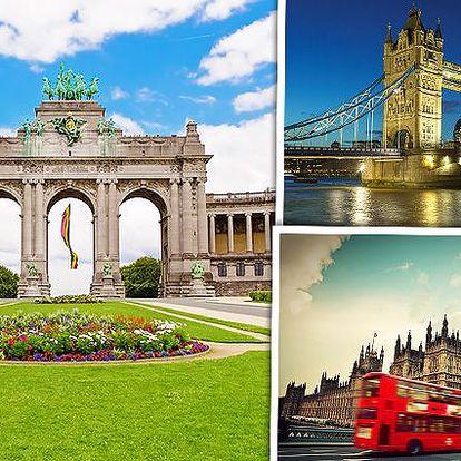 5denní zájezd do Bruselu a Londýna pro jednu osobu