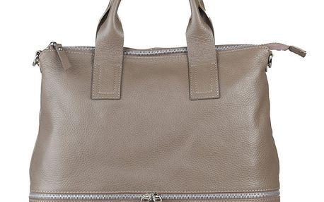 Dámská béžová kabelka s ozdobným zipem Made in Italia