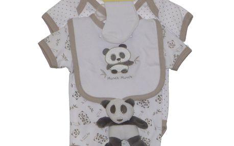 BEE-BO roztomilá dárková sada (do porodnice) 0-3 m, 5 ks - panda
