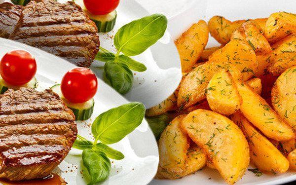 Skvělé hovězí steaky s přílohami pro dva