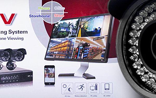 Bezpečnostní kamerový systém CCTV, 4 nebo 8 kamer. Poštovné v ceně!