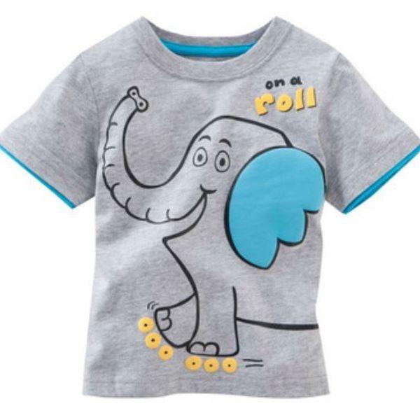 Originální chlapecké triko krátký rukáv Slon - vel. 5 let