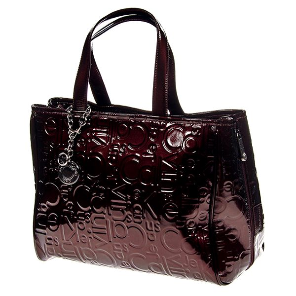 Dámská lesklá kabelka s postranními zipy Calvin Klein