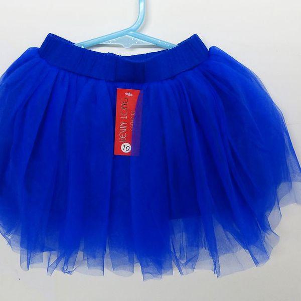 Dívčí taneční TUTU sukně - vel. 10 - korálově modrá