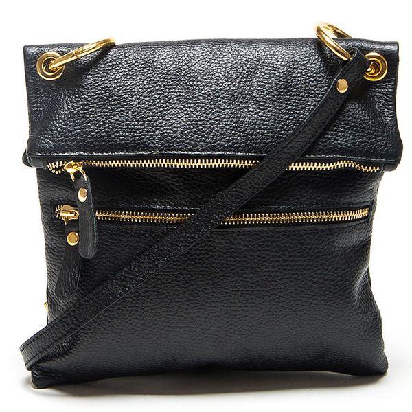 Dámská černá kabelka s popruhem Mangotti