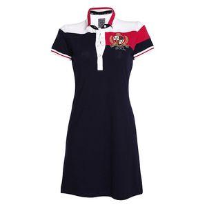 Dámské šaty s límečkem a výšivkou Signore dei Mari