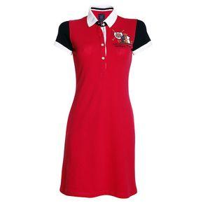 Dámské červené šaty s límečkem Signore dei Mari