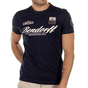 Pánské tmavě modré tričko s výšivkami Bendorff