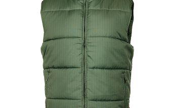 Pánská zelená prošívaná vesta Sam 73
