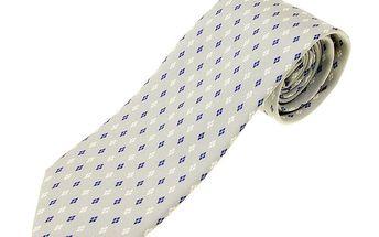 Pánská světle šedá hedvábná kravata Ballantyne s jemným vzorem