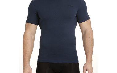 Pánské tmavě modré triko s krátkým rukávem QBO