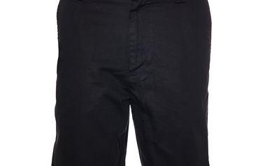 Pánské černé plátěné šortky Bendorff