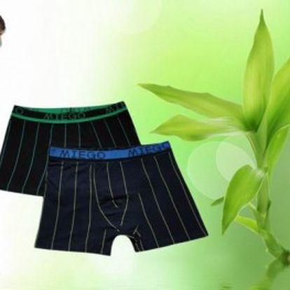 Dvoje bambusové boxerky zaručí pohodlí každému muži. Prádlo z bambusu má skvělé termoregulační a antibakteriální vlastnosti.