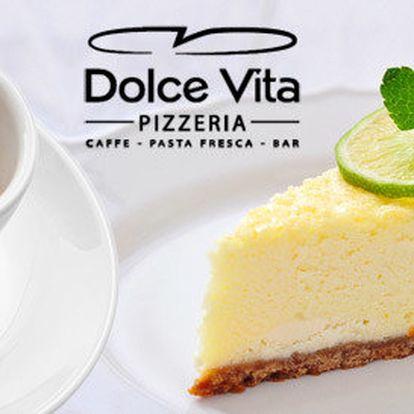 Dva italské dezerty, dvě kávy a domácí ledové čaje
