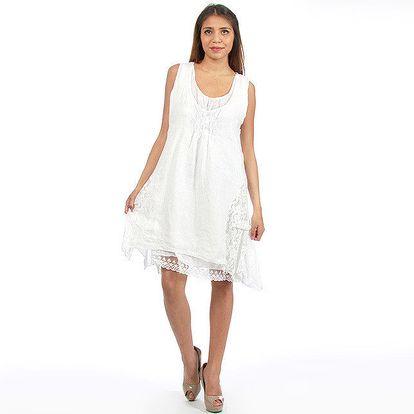 Dámské bílé romantické šaty Anabelle
