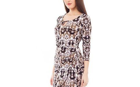 Dámské vzorované šaty s průstřihem 4Lilou