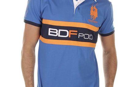 Pánské modré polo s oranžovými prvky Bendorff Next