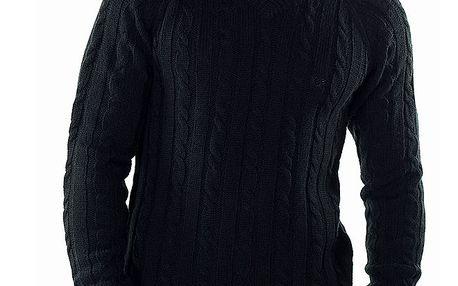 Pánský černý svetr s véčkovým výstřihem Bendorff