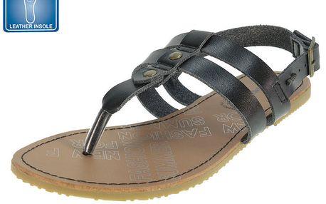 Dámské černé páskové sandály Beppi