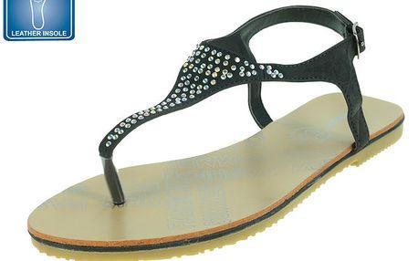 Dámské černé sandály s dekorací Beppi