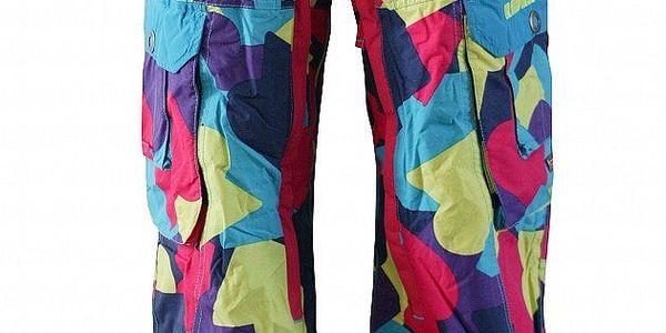 Pánské pestrobarevné sportovní kalhoty Fundango s membránou a potiskem