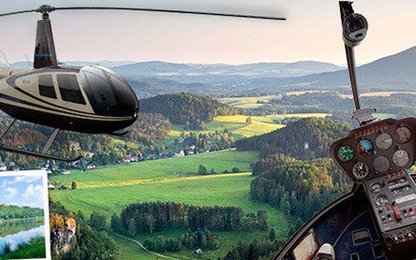 Lety ve vrtulníku kolem Řípu či zámku Mělník