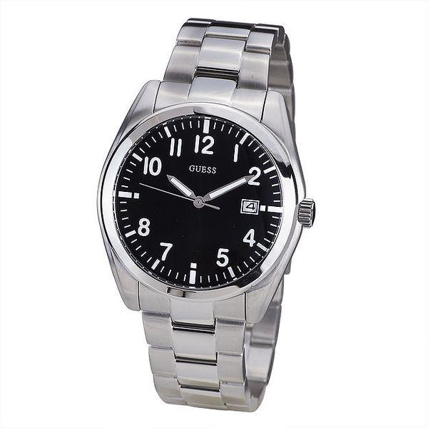 Pánské hodinky s černým ciferníkem Guess