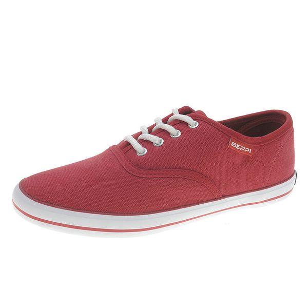 Dámské červené plátěné tenisky Beppi