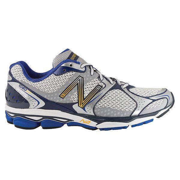 Pánské stříbrno-modré běžecké boty New Balance