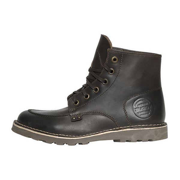 Pánské hnědé kožené boty Buggy