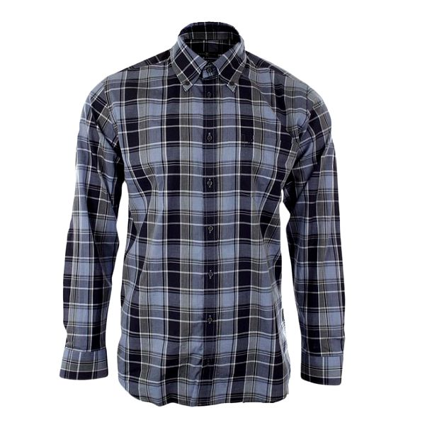 Pánská modrá košile Pietro Filipi se vzorem