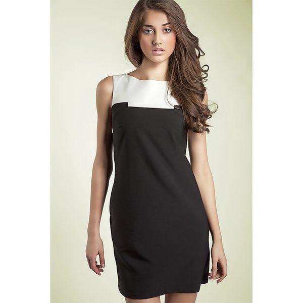 Dámské černo-bílé pouzdrové šaty Nife